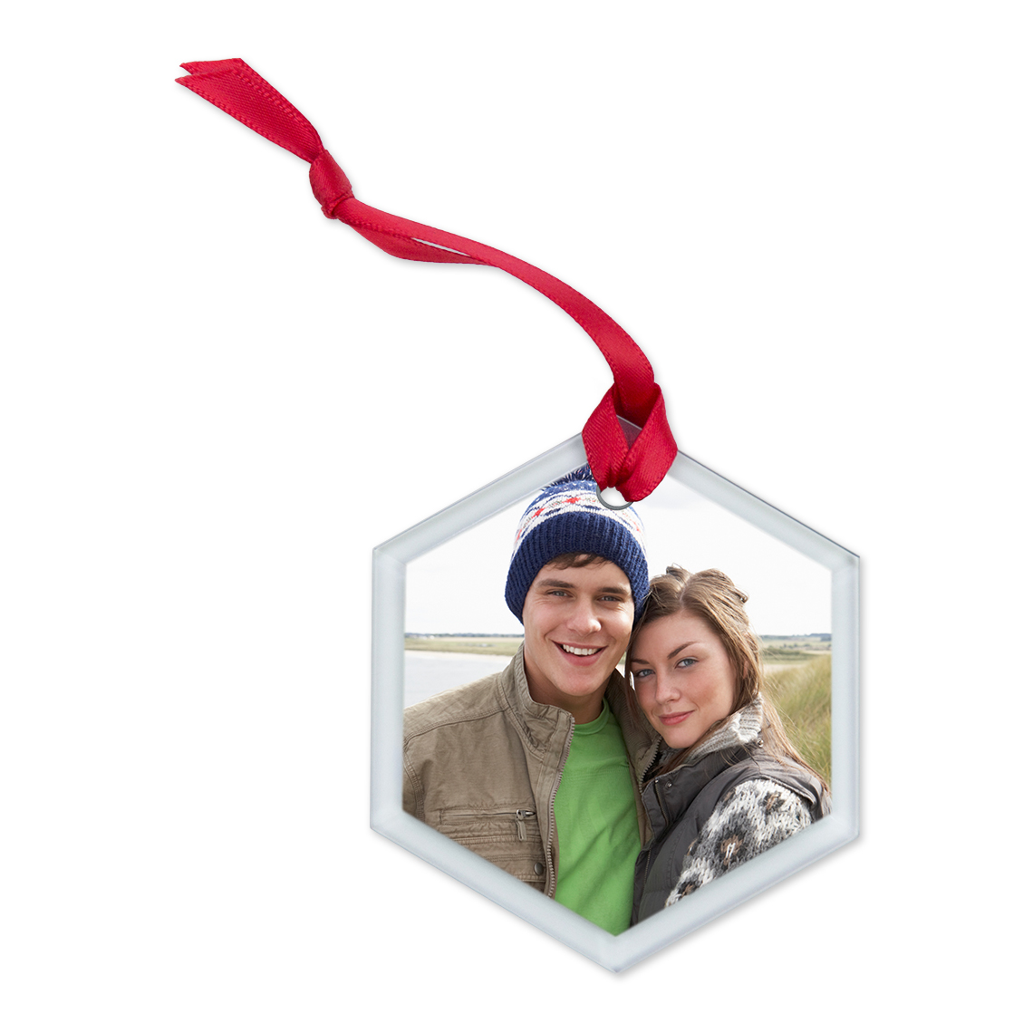 Icon Glass Hexagon Ornament